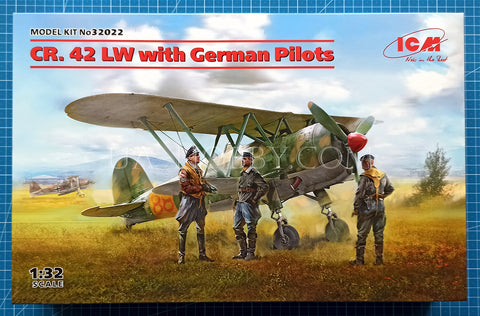 1/32 Fiat CR.42 LW with German Pilots. ICM 32022