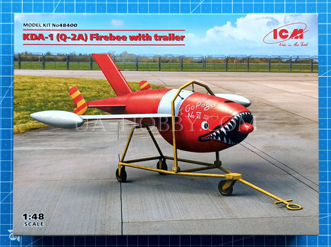 1/48 KDA-1 (Q-2A) Firebee with trailer. ICM 48400