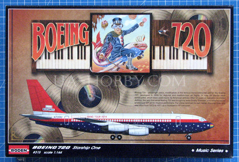1/144 Boeing 720 Starship One ★Music Series★. Roden 315