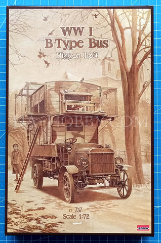 1/72 World War I Type B Bus Pigeon Loft. Roden 737