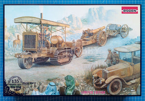 1/35 Holt 75 Artillery tractor w/BL 8-inch Howitzer. Roden 814