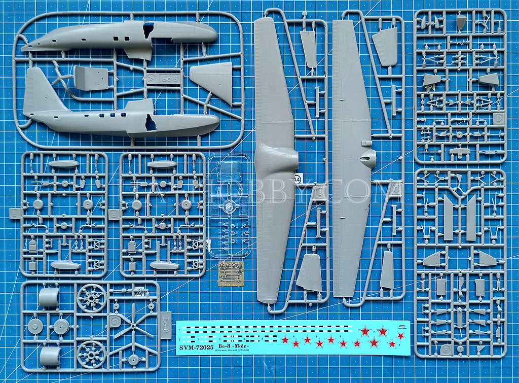 with water skis /& hydrofoils aircraft plastic kit 1//72 Sova-M Berev Be-8