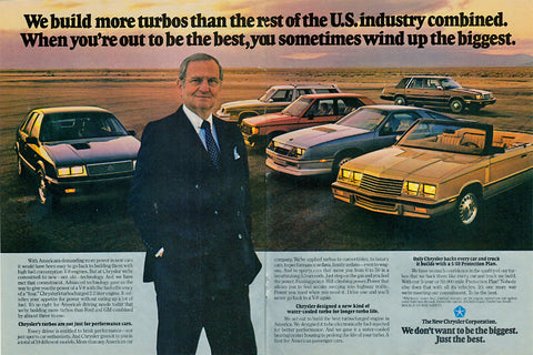 Lee Iacocca Chrysler Turbo Magazine Ad