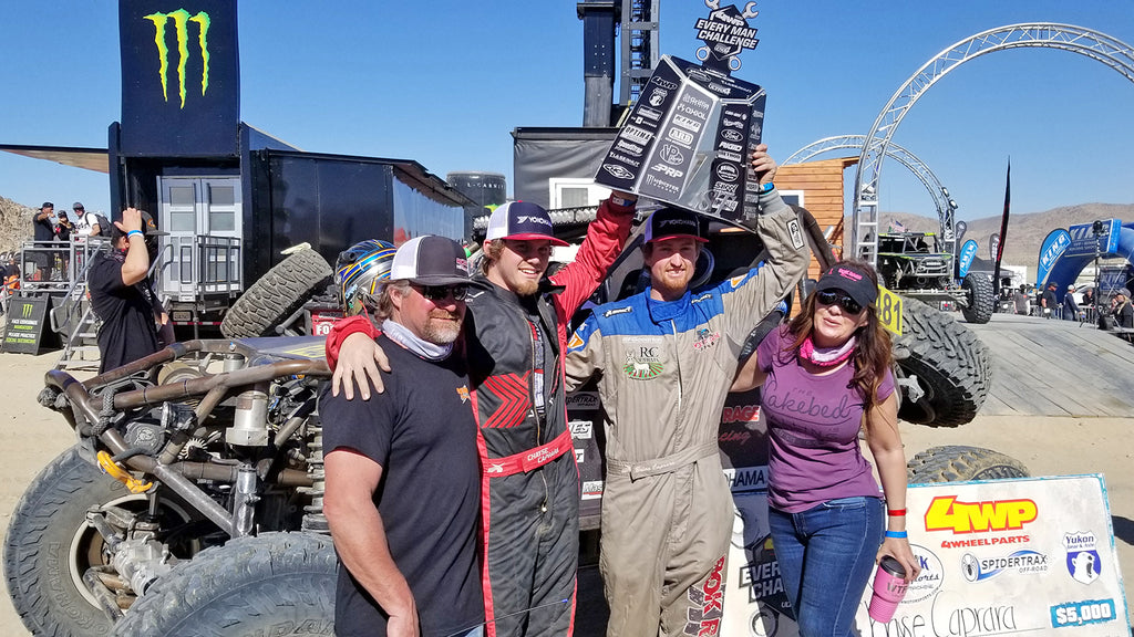 Chayse Caprara with father Brian and co-driver
