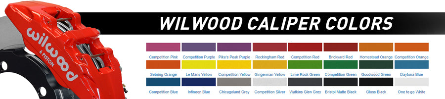 Wilwood Brake Caliper Color Choices