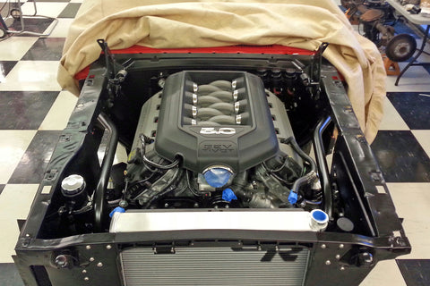 Ford Performance Coyote 5.0-liter motor in 1966 Mustang
