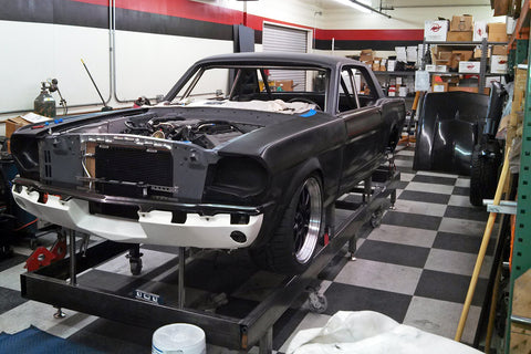 Wilwood Workhorse Mustang gets new front fenders and hood