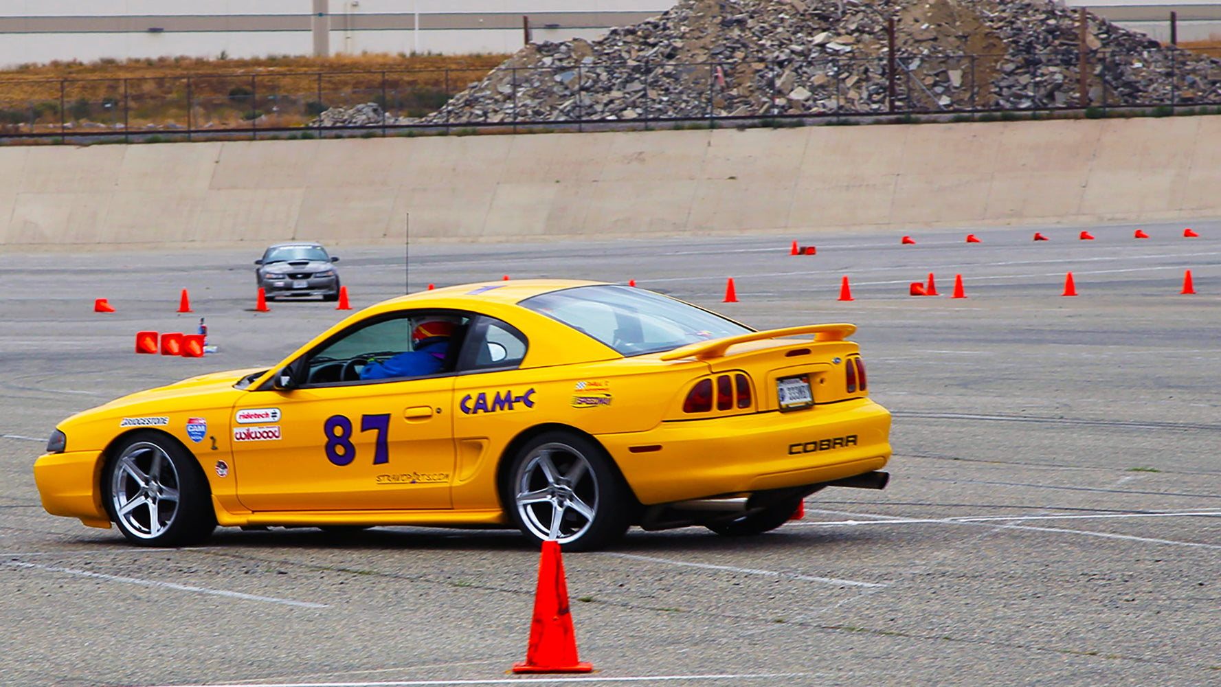 Mustangs at Autocross