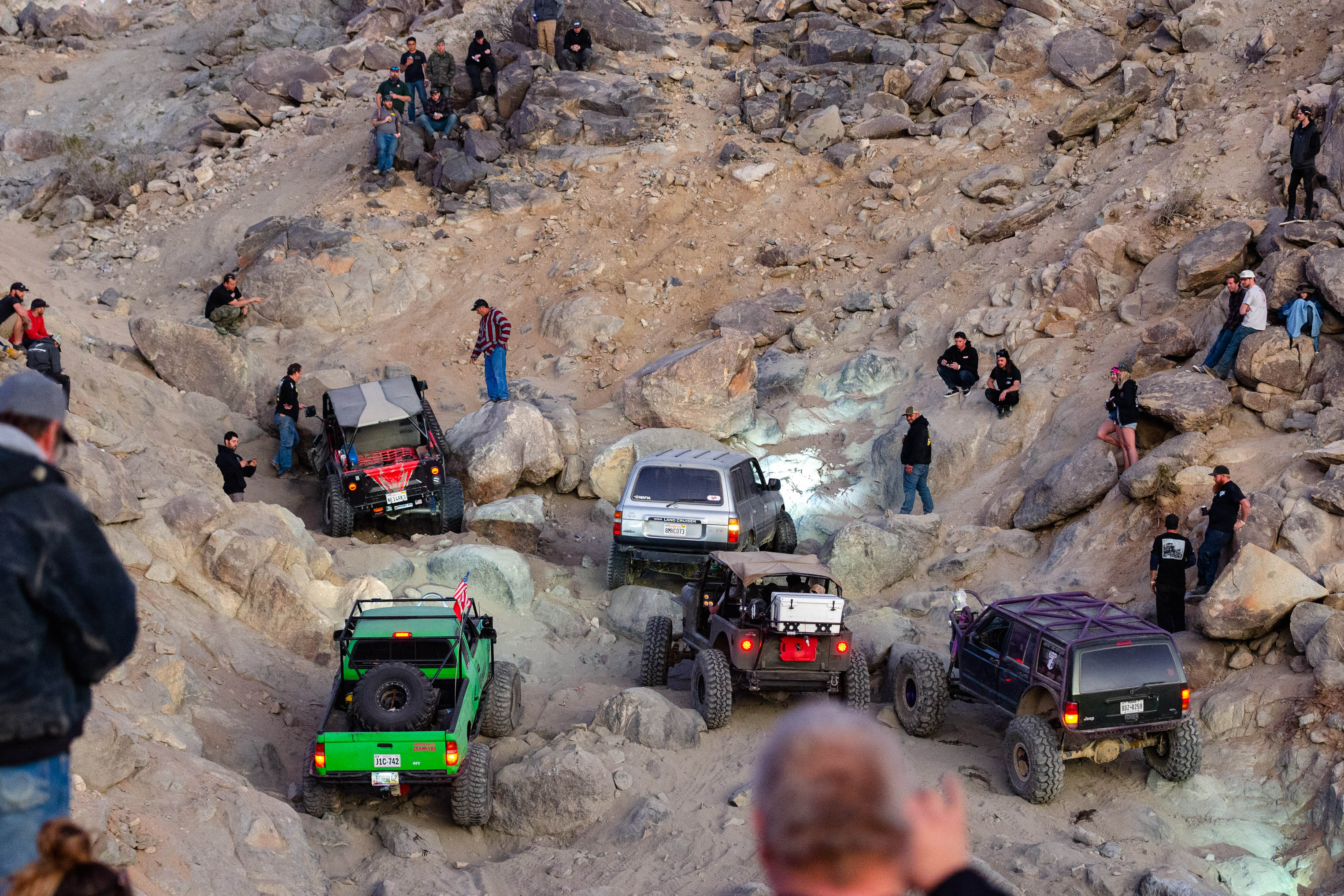 King of the Hammers Rock Crawling section 2020