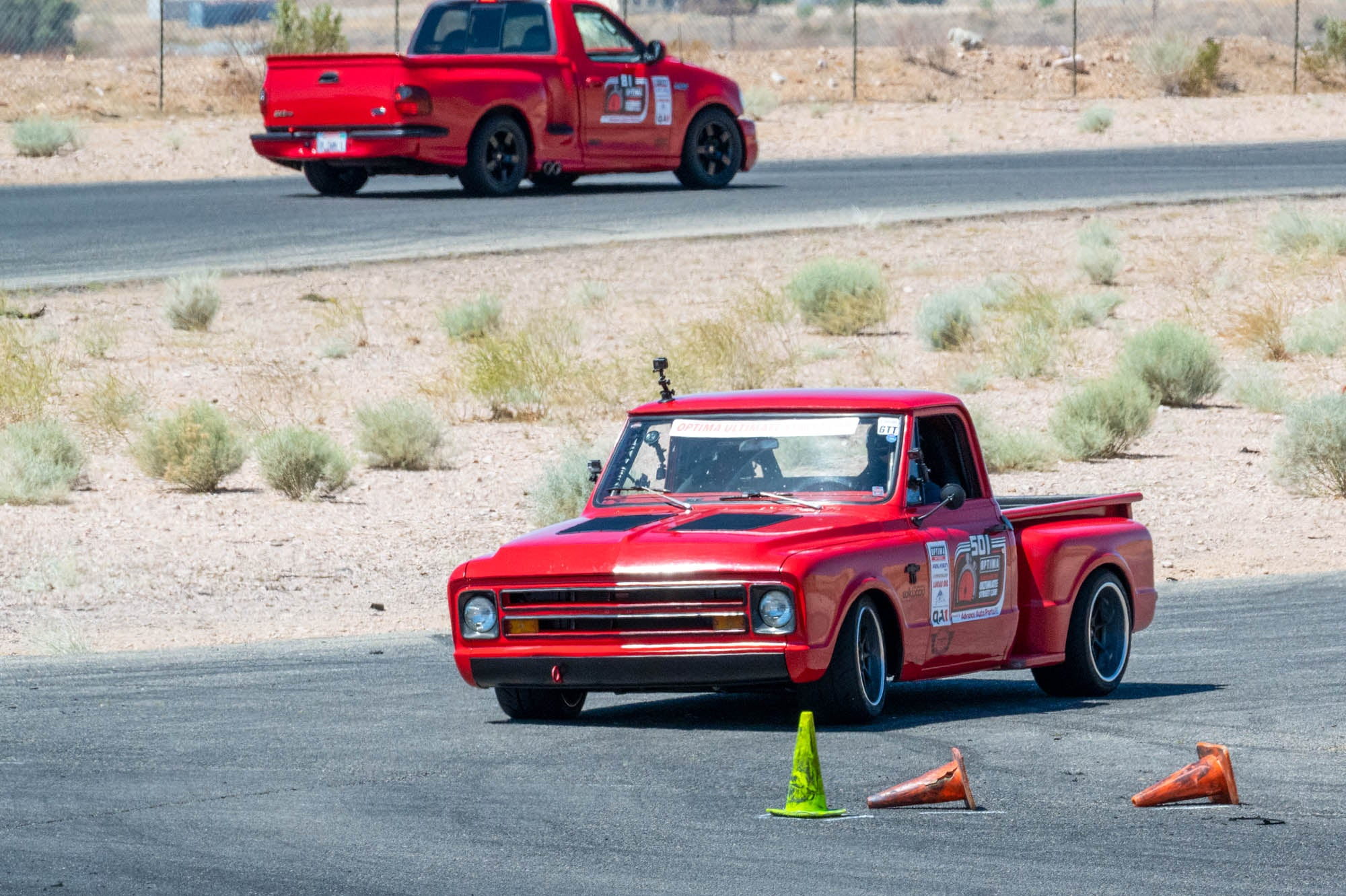 Ultimate Street Car 1967 Chevy C10 and 1999 Ford Lightning pickup trucks