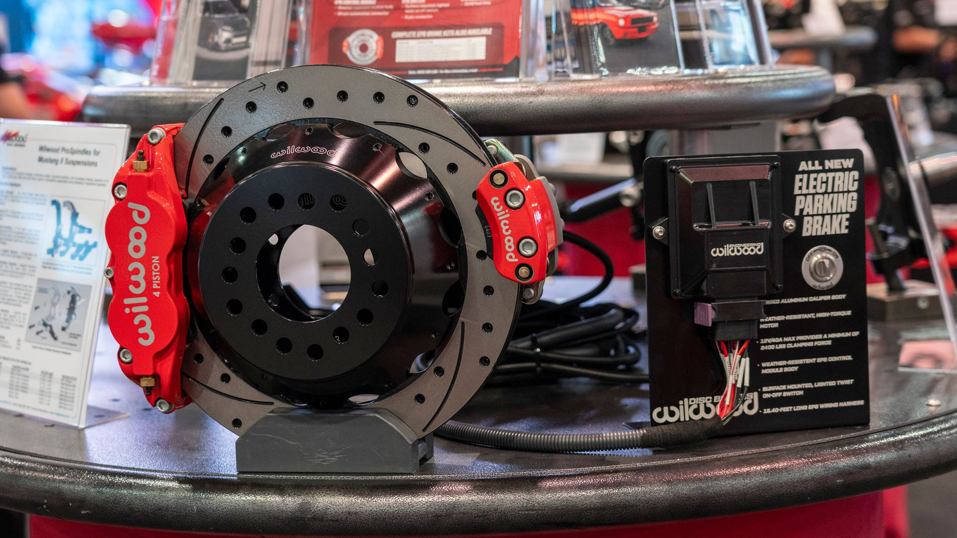 Wilwood's new Electric Parking Brake on display at SEMA show 2019
