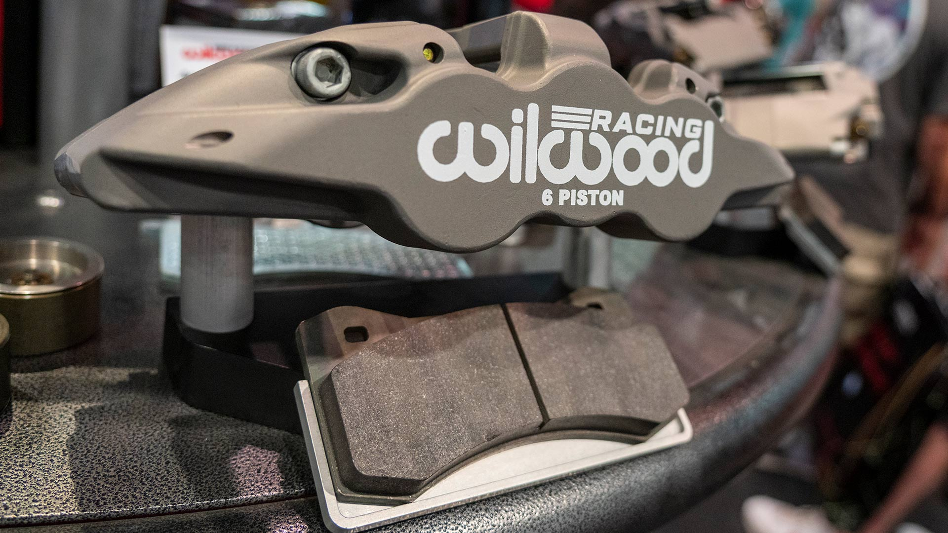 New Wilwood type-III anodize racing caliper on display at SEMA show 2019