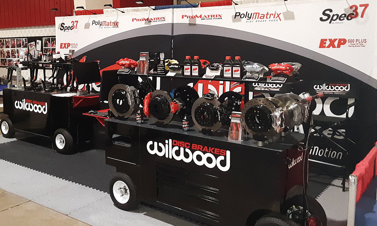 Wilwood Booth Product Displays at Show 2020