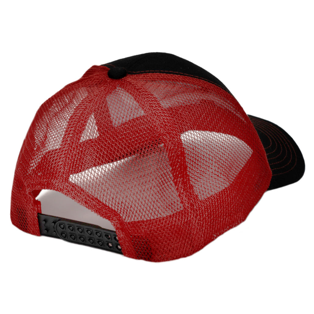 Wilwood Mesh Hat - Formed Bill Black and Red