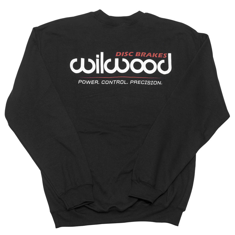 Wilwood crew neck sweatshirt back - black