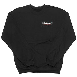 Wilwood crew neck sweatshirt front - black