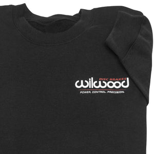 Wilwood crew neck sweatshirt front logo - black