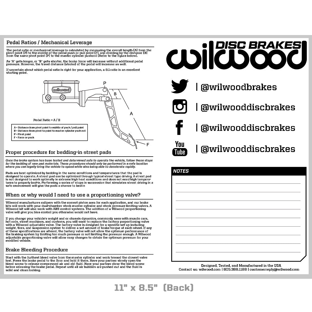 Wilwood Disc Brakes Logo Sticker Sheet