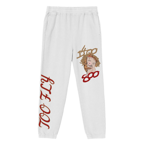 Too Fly Sweatpants White