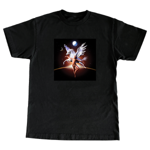 Pegasus Album Tee Black