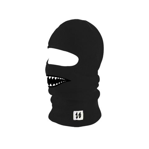 Neon Shark Ski Mask Black
