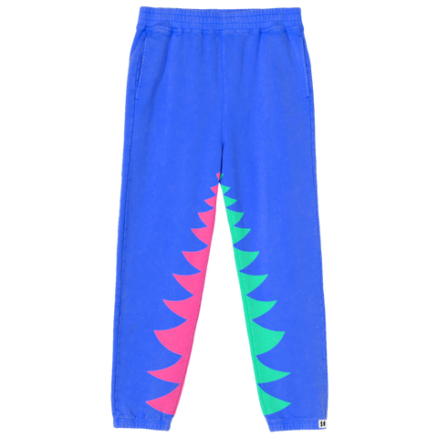 Shark Bite Sweatpants Blue