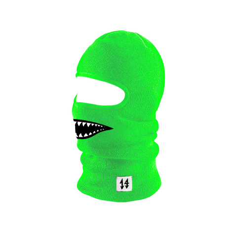 Neon Shark Ski Mask Green