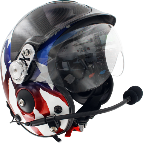 Aries Flight Helmet With Comms & Visor