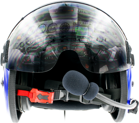 PilotX Flight Helmet With Communications