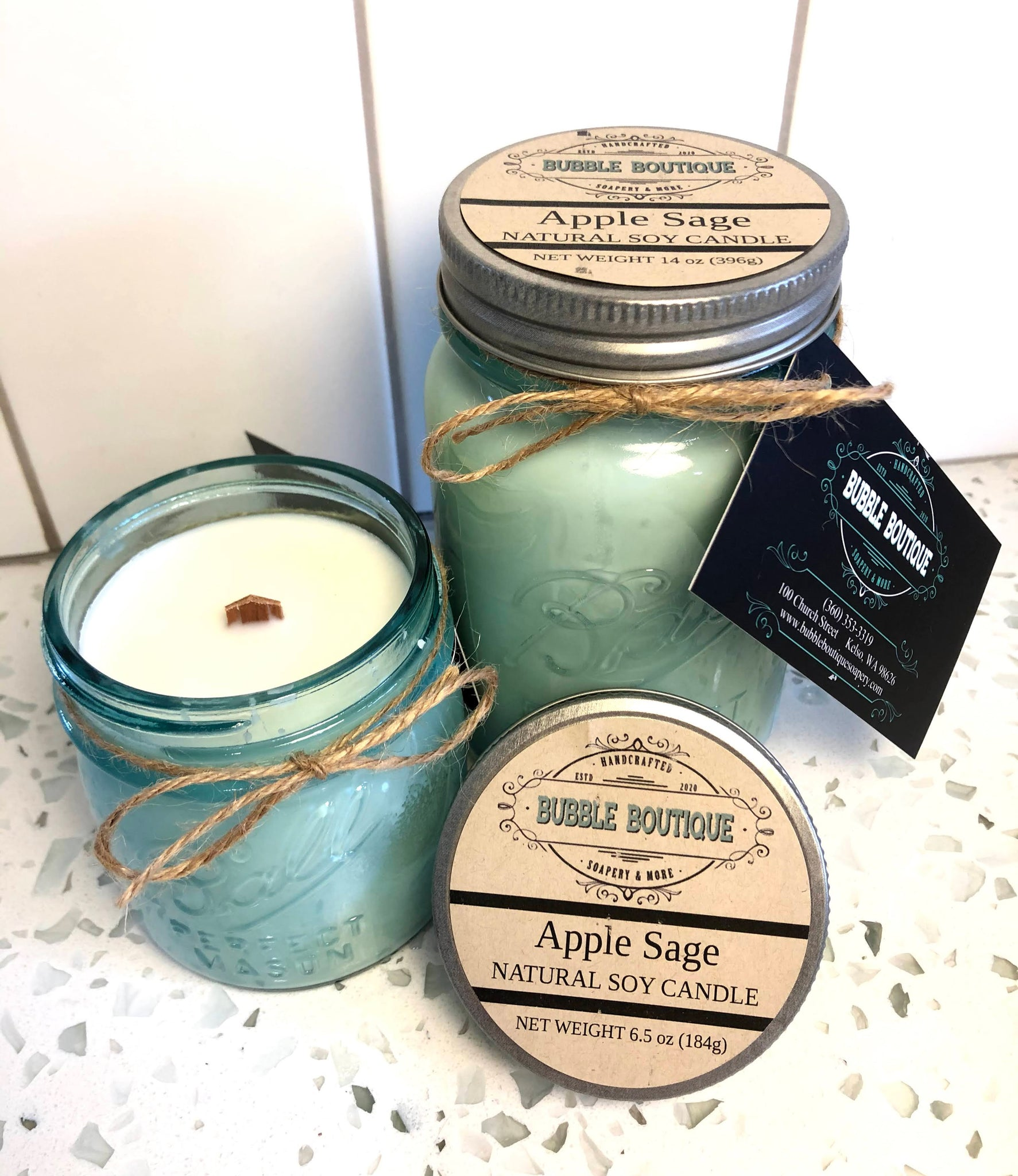 APPLE SAGE Soy Candle