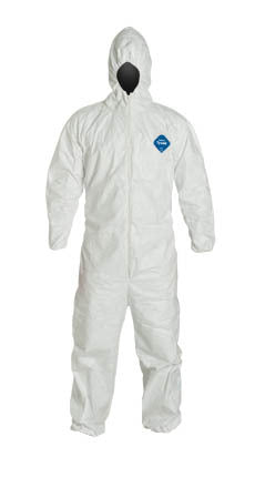 Tyvek Coverall with Hood and Elastic Wrists and Ankles