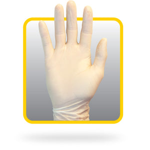 Latex Gloves 5 Mil Tan