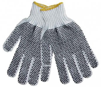 String Knit Gloves With Dots