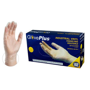 Ammex Vinyl Gloves Industrial Clear