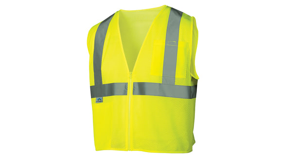 Pyramex Safety Vest Class 2 Mesh Material Lime