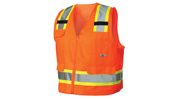 Pyramex Safety Vest Class 2 Solid Material Orange