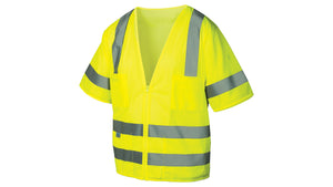 Pyramex Safety Vest Class 3 Mesh Material Lime