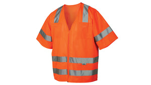 Pyramex Safety Vest Class 3 Mesh Material Orange