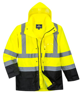 Portwest Hi Vis Rain Jacket