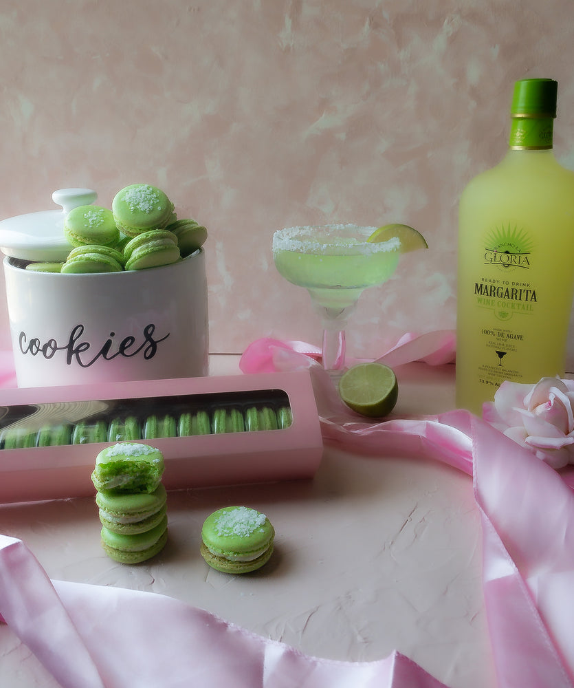 Margarita infused and Watermelon infused Macaron