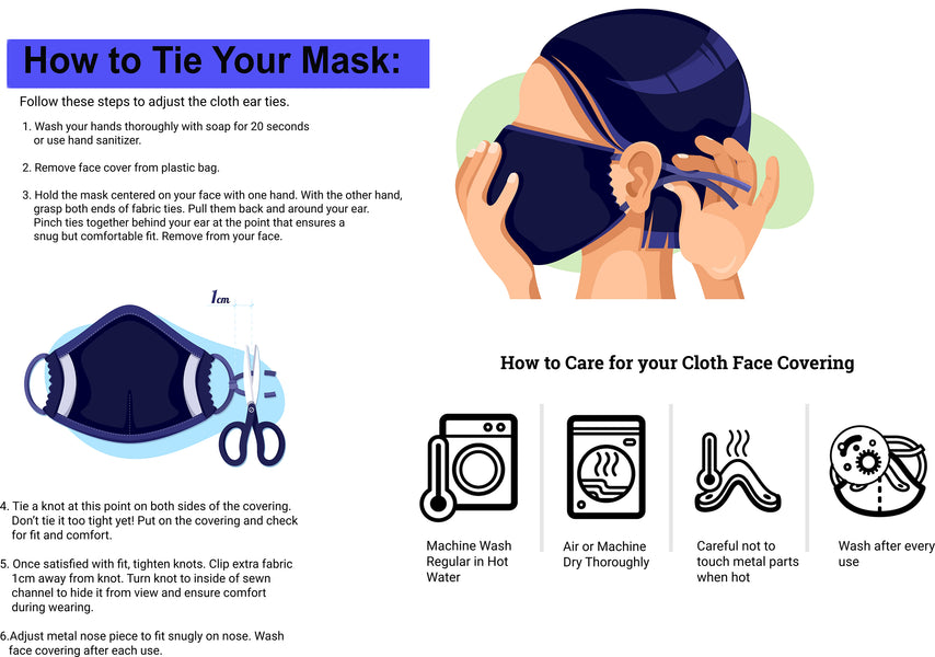 How to Tie your Face Mask