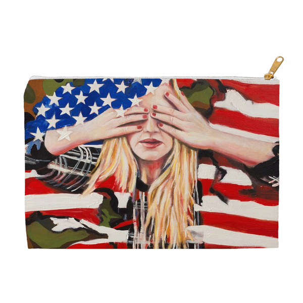 American Angst Zippered Accessory Pouch