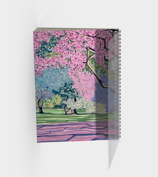 Cherry Blossoms Spiral Bound Sketch Book back cover