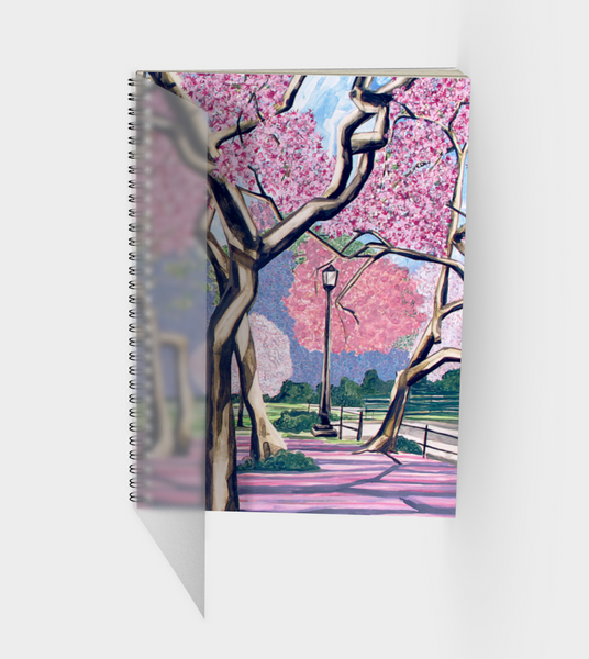 Cherry Blossoms Spiral Bound Sketch Book front cover