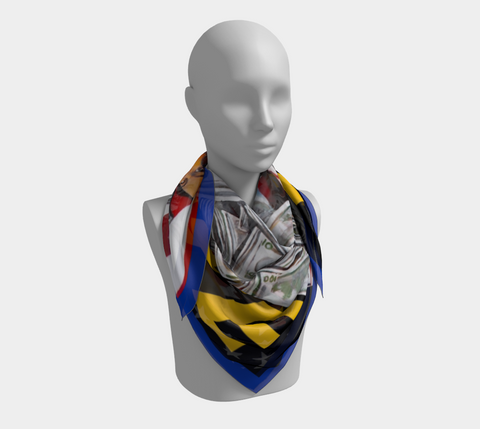 VOTE Art Scarf on bust