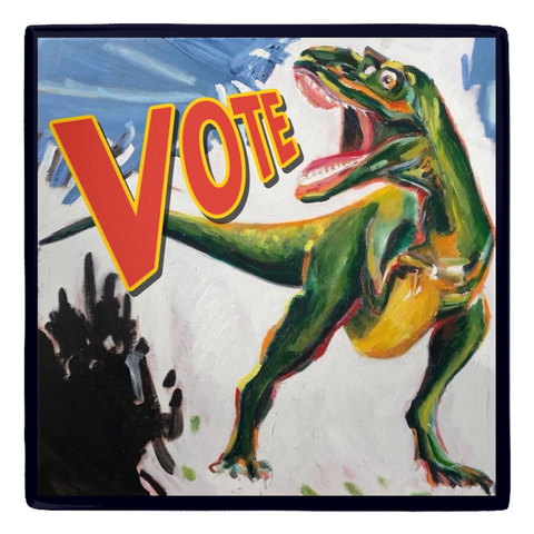Dinosaur Metal Political Art Magnet comes in every multi pack