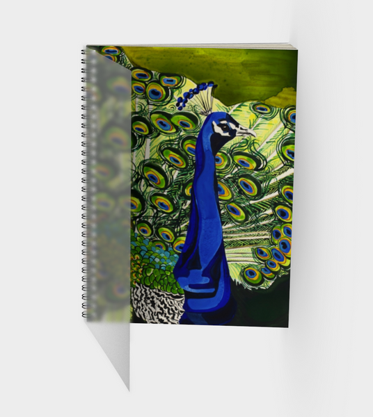 Peacock Spiral Bound Sketch Book Front