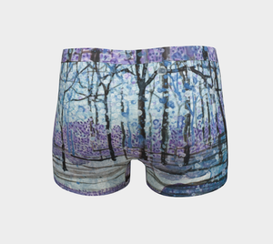 Purple Snow Boy Shorts