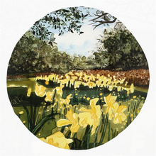 Load image into Gallery viewer, Sun Gardens Daffodil Rounded Beach Towels