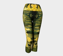 Load image into Gallery viewer, Sun Gardens Daffodil Yoga Capris